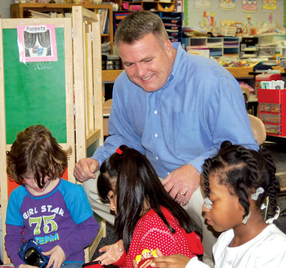 Principal Rick Smith is a fixture at Youngsville Elementary School