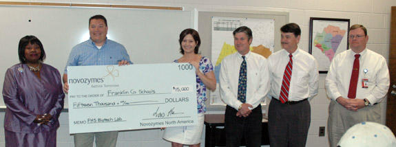 Novo gives $15,000 to schools