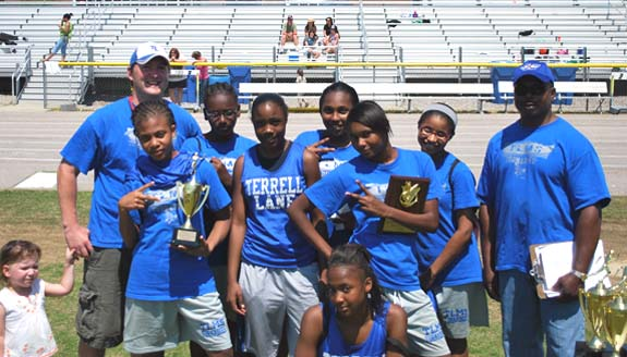 FRANKLIN COUNTY TRACK CHAMPIONSHIP WINNERS - MIDDLE SCHOOL GIRLS - TERRELL LANE
