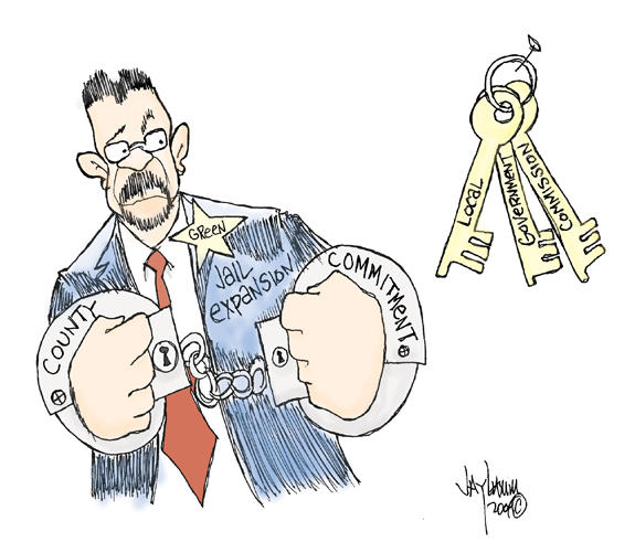 Editorial Cartoon: Handcuffed