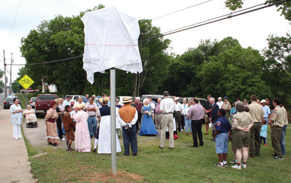 Warfington historic marker unveiled, sort of