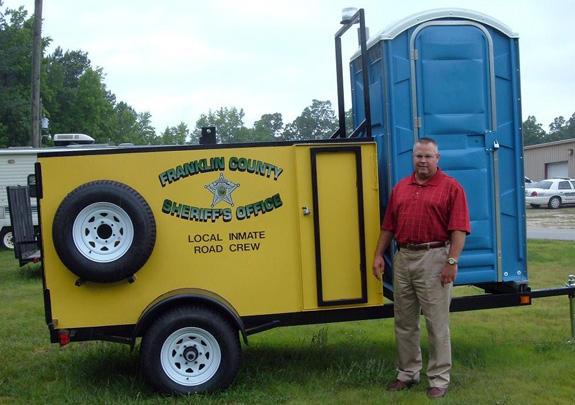Sheriff picks up inmate road crew trailer