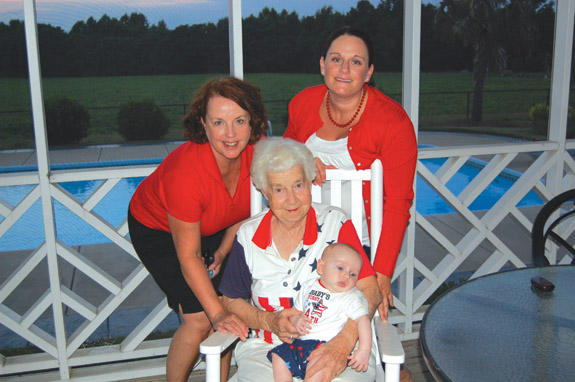 Four generations celebrate the 4th