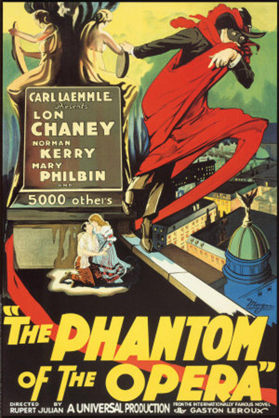 "Special showing of silent film, ""The Phantom of the Opera"""