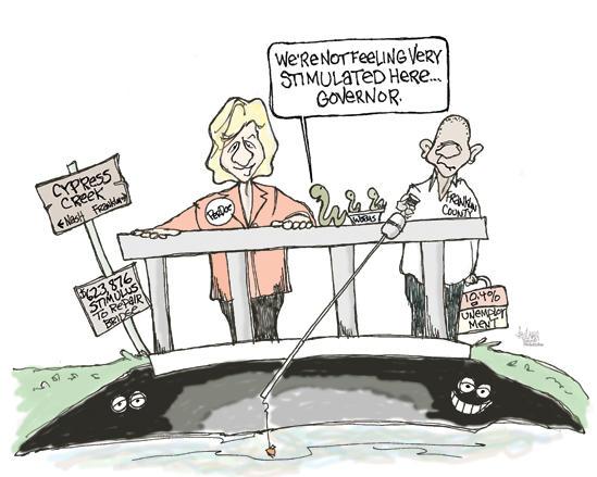 Editorial Cartoon: Bridge to Nowhere