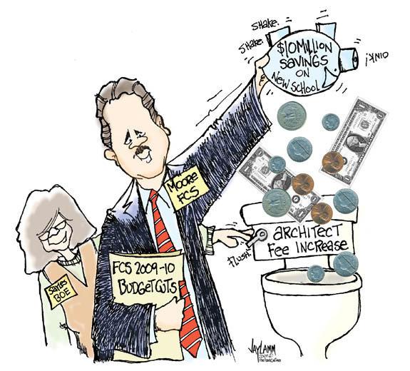 Editorial Cartoon: Moore Bid