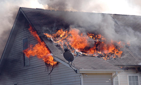 House is total loss after fire