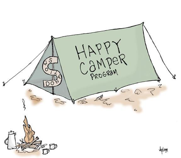 Editorial Cartoon: Survivor