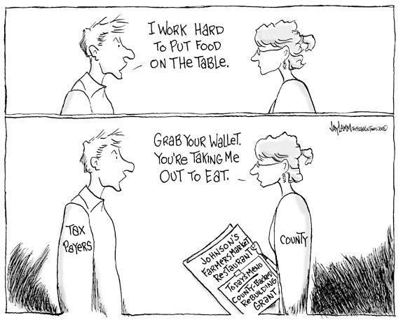 Editorial Cartoon: Force Fed