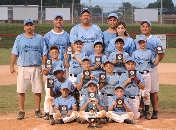 YOUNGSVILLE -- COACH-PITCH TOURNAMENT RUNNER-UP
