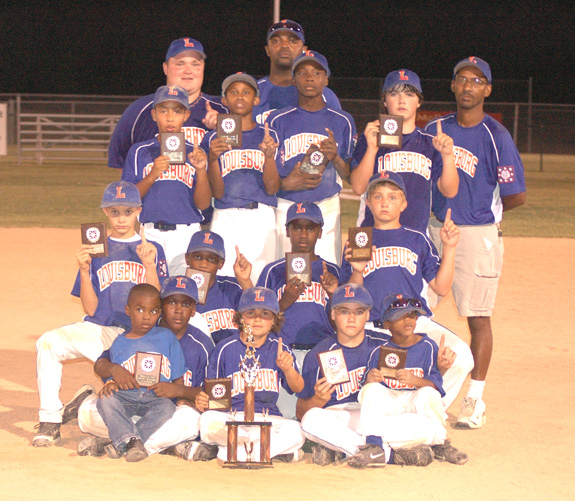 DIXIE YOUTH MAJOR LEAGUE BASEBALL TOURNEY CHAMPIONS