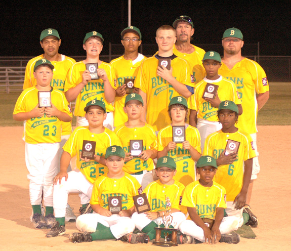 DIXIE YOUTH MAJOR LEAGUE BASEBALL TOURNEY SECOND PLACE