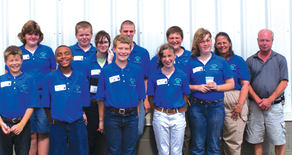Franklin County youth participate in 4-H Poultry judging competition