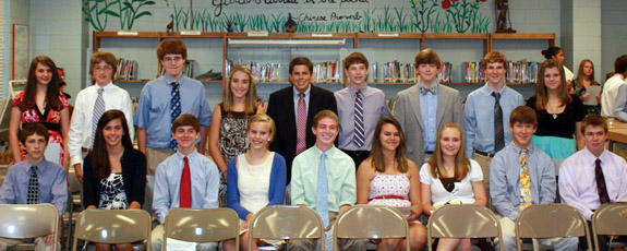 KVA students inducted into honor societies