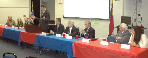 Candidates present platforms