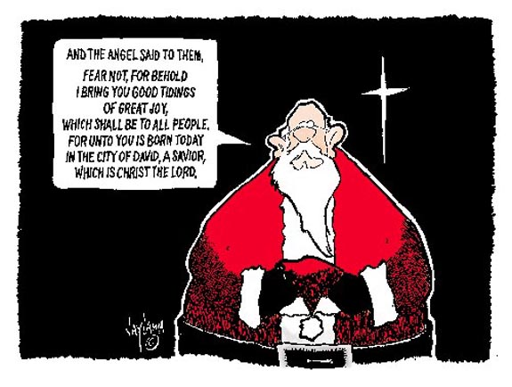 Editorial Cartoon: Santa Tradition