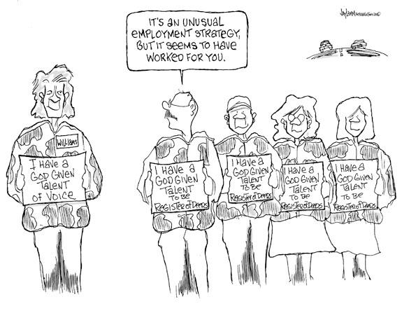 Editorial Cartoon: Stone's Throw Away