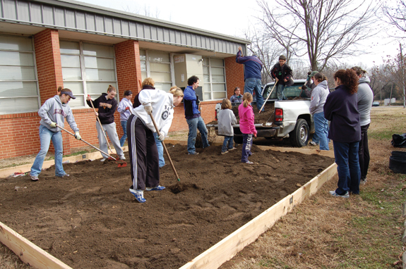 Garden planted in spirit of MLK day