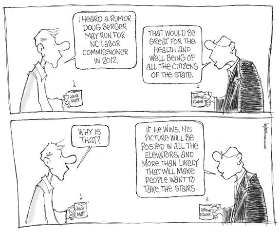 Editorial Cartoon: Going Down