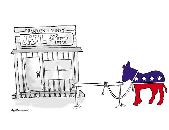Editorial Cartoon: Mule Train-ed