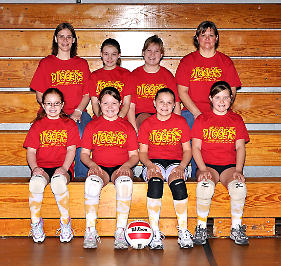FRANKLIN CO. RECREATION DEPT. VOLLEYBALL SQUADS, 1