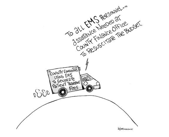 Editorial Cartoon: Emergency Bailout