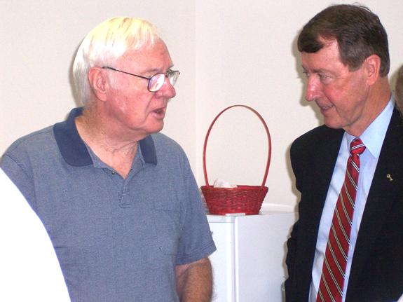 Etheridge speaks to Senior Democrats