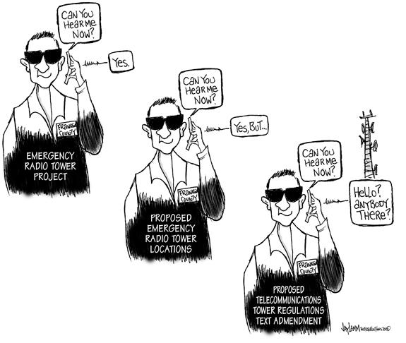 Editorial Cartoon: Dropped Service