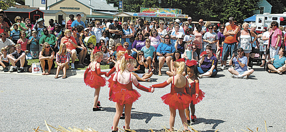 LINE DANCING AT THE TAR RIVER FESTIVAL