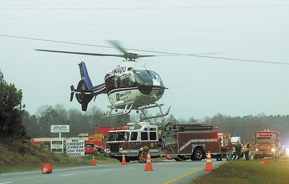 Man airlifted following U.S. 1 accident