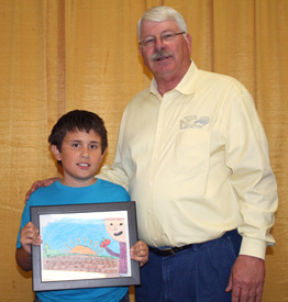 Collins honored for artwork