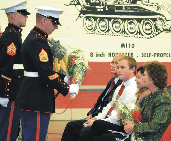 Honoring the sacrifice of a fallen Marine's family