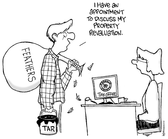 Editorial Cartoon: Taxing Situation