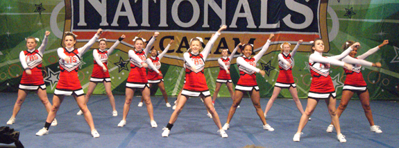 Franklinton cheerleaders shine in Florida