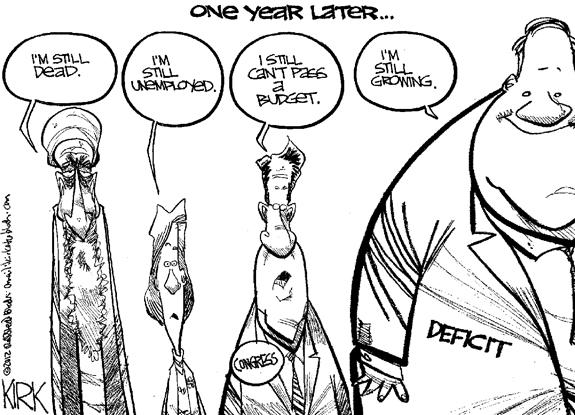 Editorial Cartoon: One Year later