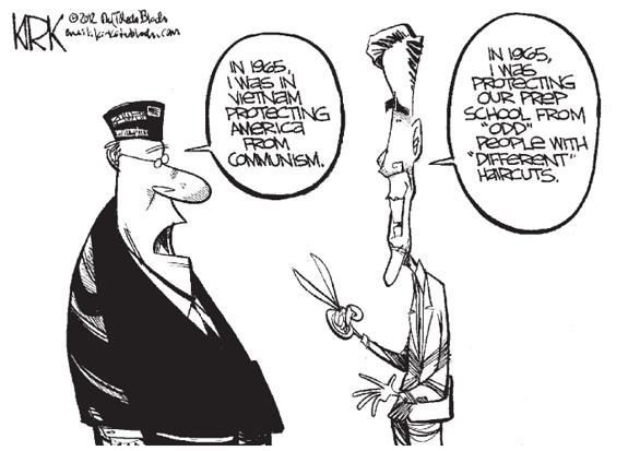 Editorial Cartoon: Prep School Mitt