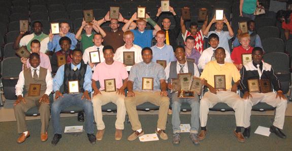 BUNN HIGH SCHOOL MALE AWARD WINNERS