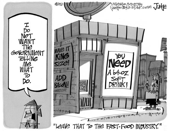 Editorial Cartoon: Fast food