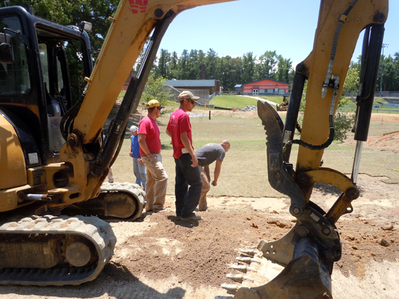 <i>'Big hole' at LHS designed to help the Tar River</i>