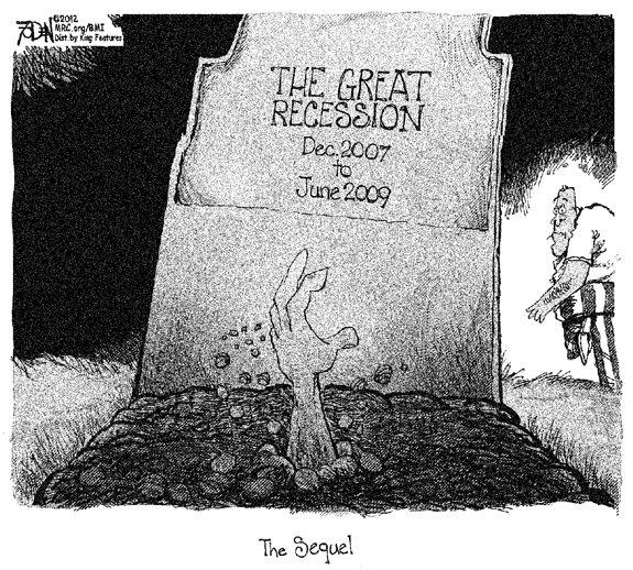 Editorial Cartoon: Recession Rising