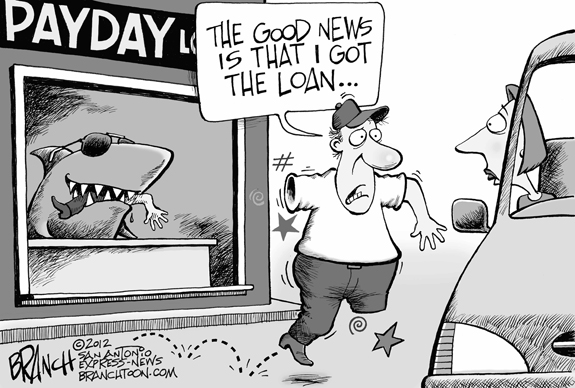 Editorial Cartoon: Payday Loan