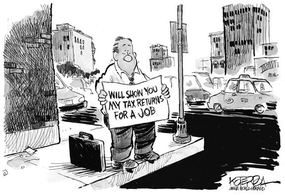 Editorial Cartoon: Tax Return
