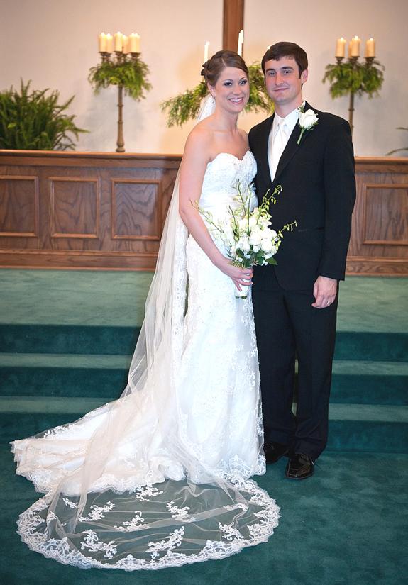 <i>Margaret Lytch, Benjamin Dickerson exchange vows</i>