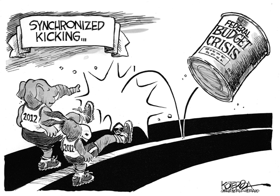 Editorial Cartoon: Kicking