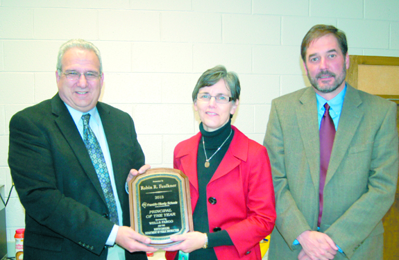 Bunn High Principal honored