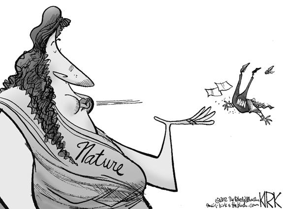 Editorial Cartoon: Mother Nature