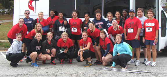 LC softballers showcase skills at 5-K event