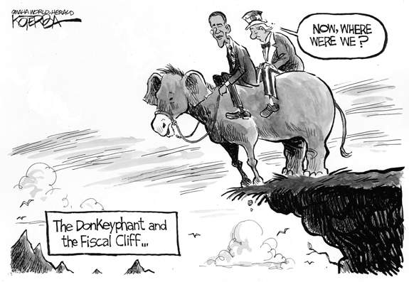Editorial Cartoon: Fiscal Cliff