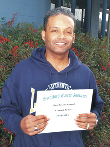 <i>Student earns degree</i>