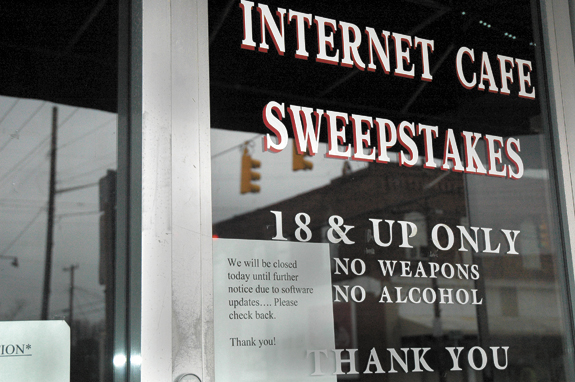 Local sweepstakes cafes closed, appeal of ban is promised